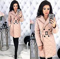 Женская модная куртка на осень - весну, стёганая плащёвка на 150ом синтепоне с 42 по 48 рр