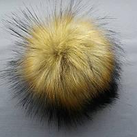 Бубоны (помпоны) из эко меха (искусственные).Цвет коричневый (под енота).Размер 15-17 см