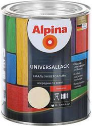 Эмаль алкидная Alpina universallack универсальная глянцевая зеленая 0.75л