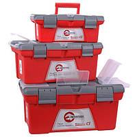 ✅ Комплект ящиков для инструмента 3шт(ВХ-0413, ВХ-0416, ВХ-0418) INTERTOOL BX-0403