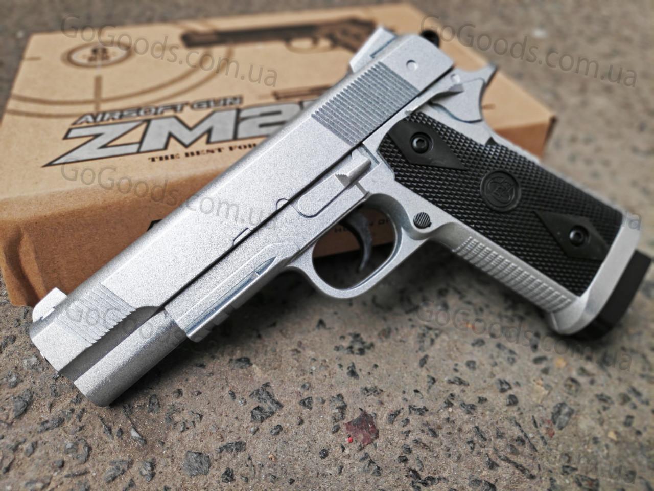 Легендарный пистолет Colt металлический страйкбольный спринговый (пружинный)
