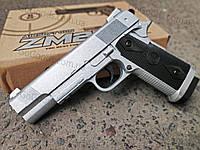 Легендарный пистолет Colt металлический страйкбольный спринговый (пружинный), фото 1