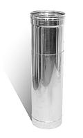 Труба-удлинитель 0,5-1м ф180 из нержавеющей стали 0,8 мм (дымоход)