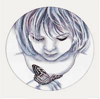 Набор для вышивания РТО M176 Девочка и бабочка