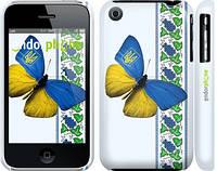 """Чехол на iPhone 3Gs Желто-голубая бабочка """"1054c-34"""""""