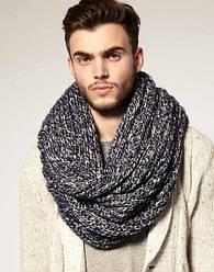 Мужские хомуты и шарфы