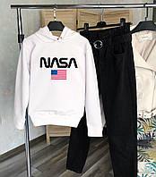 Женское теплое худи белое NASA