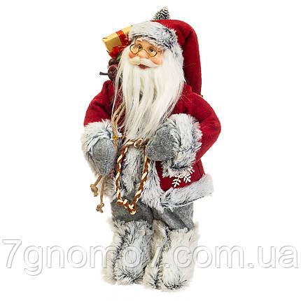 Дед Мороз под елку, Санта Клаус с мешком подарков 30 см, фото 2