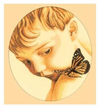 Набор для вышивания РТО M177 «Мальчик с бабочкой»