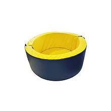 Круглый сухой бассейн с шариками для дома 100х40х10 см