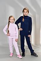 Вязаные костюмы детские для девочек (брюки и свитер), фото 1