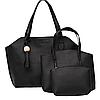 Жіноча сумка, маленька сумочка і гаманець набір чорний