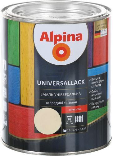 Эмаль алкидная Alpina universallack унив. шелк. глянц. серая 0,75л