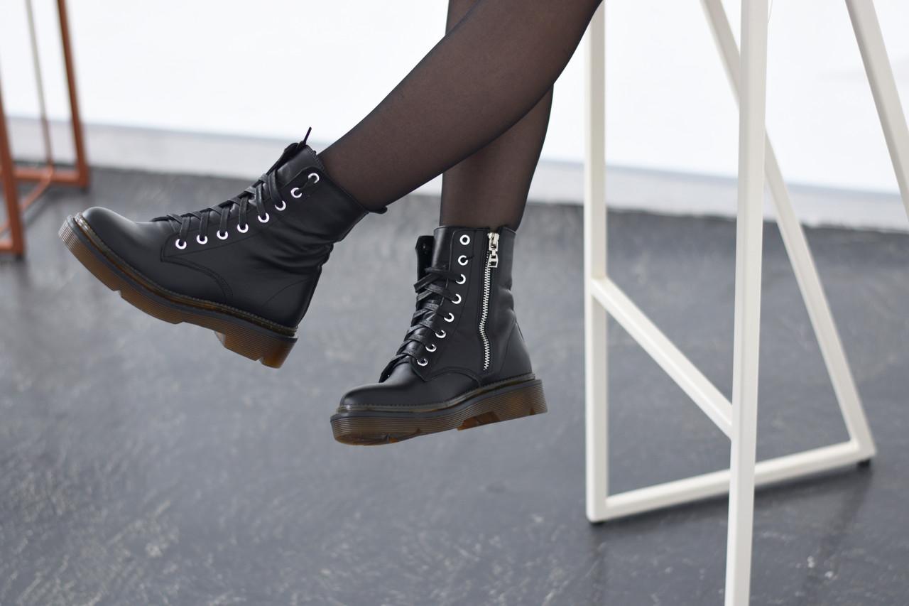 Кожаные ботинки на прозрачной коричневой подошве Abbi