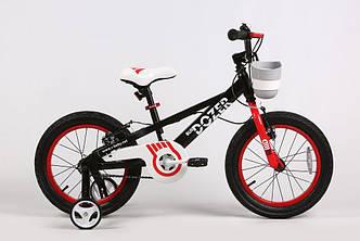 """Велосипед ROYAL BABY BULLDOZER 18"""" Чорний + бокові колеса"""