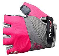 Велоперчатки PowerPlay 5277 женские Розовый, хс
