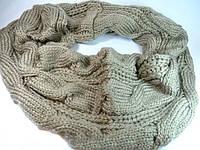 Теплый женский шарф - хомут Цвет хаки