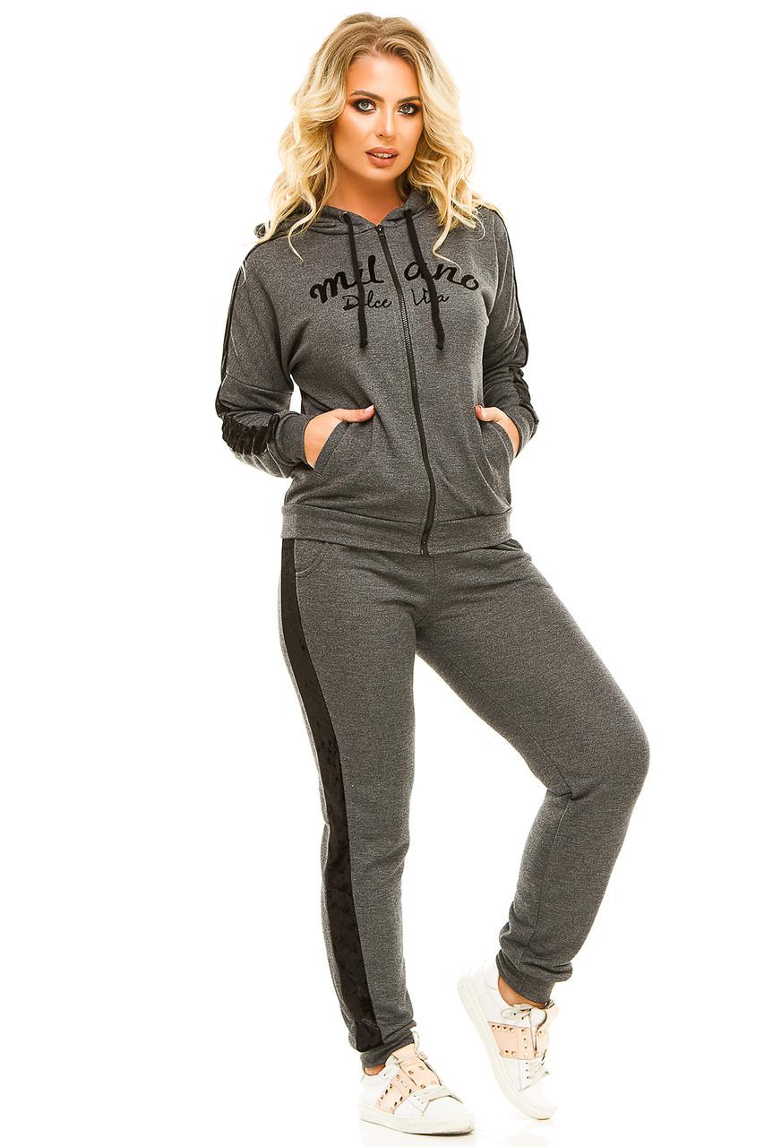 Спортивный костюм 5724 темно-серый