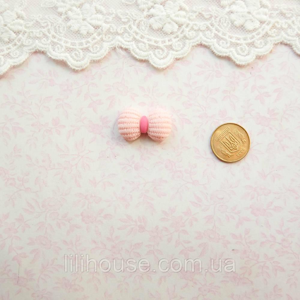 """Декор миниатюра """"Светло-розовый бантик"""" - 2*1.3 см"""