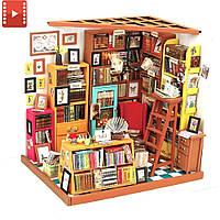 Набор для творчества Мини-интерьерная модель «Библиотека» Robotime