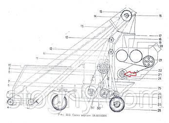 Шків ел/ двигуна приводу тримера ЗП 05.101, фото 2