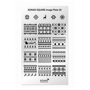 Пластина для стемпинга KONAD SQUARE Image Plate 30