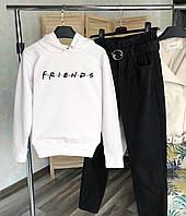 Женское теплое худи белое Friends