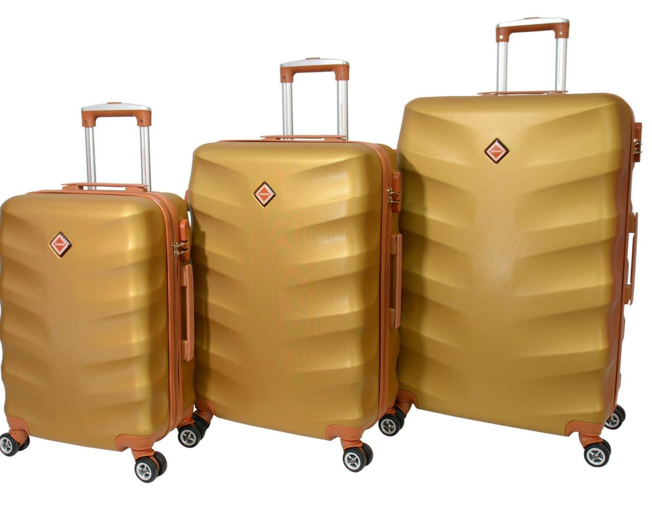 Дорожные чемоданы Bonro Next набор 3 штуки золотой