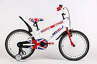 """Велосипед детский ARDIS MINI 16"""" Белый  + боковые колеса и крылья"""