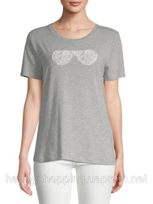Женская серая футболка Karl Lagerfeld Paris