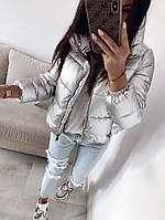 Женская дутая куртка силикон 300