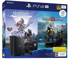 PlayStation 4 Pro 1Tb Black (God of War & Horizon Zero Dawn CE)