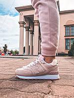 Женские зимние кроссовки с мехом New Balance 574 Pink Winter