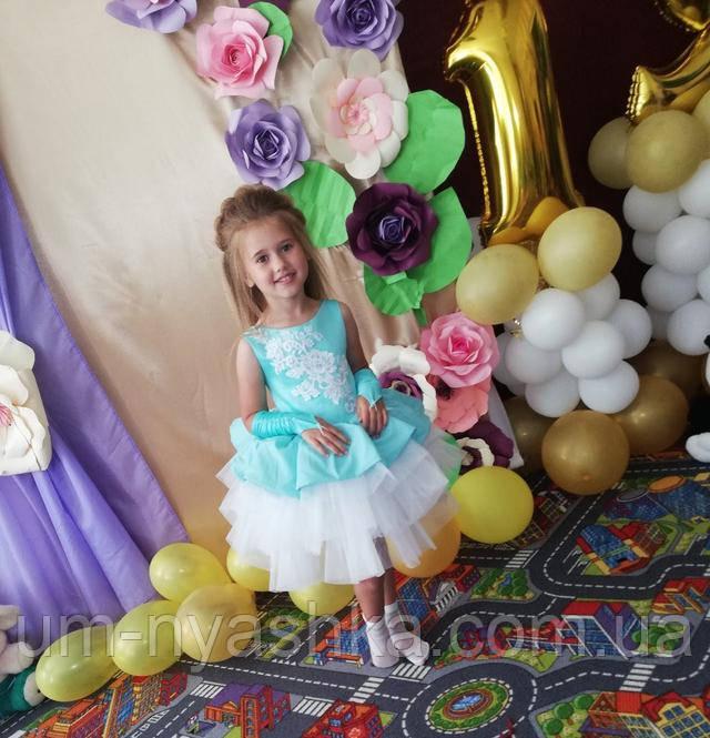 пышное платье детское мята