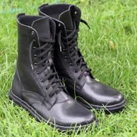 Берцы военные кожаные черные, фото 1