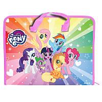 Папка-портфель на молнии Kite My Little Pony LP19-202, A4, 1 отделение