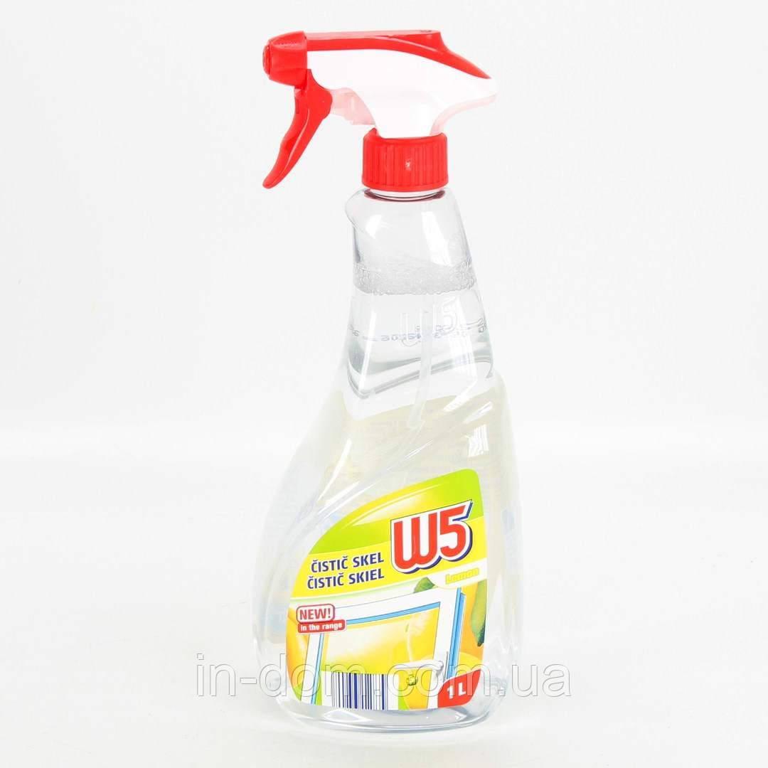 W5 Lemon Засіб для миття скла, пластику і дзеркал Лимон 1 л