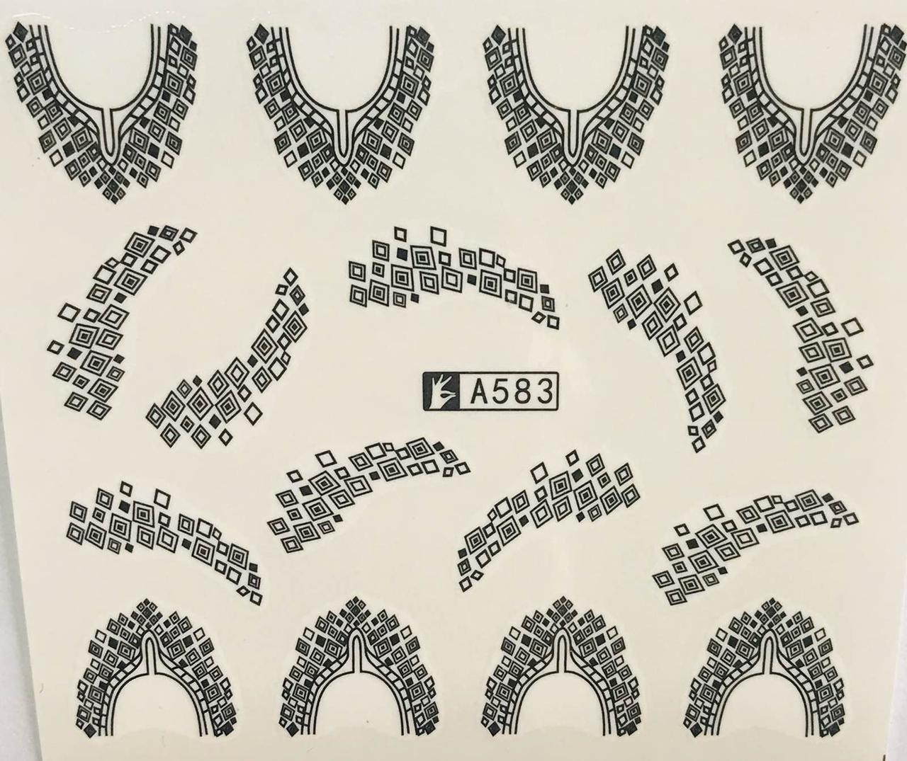 Слайд для дизайна ногтей А583