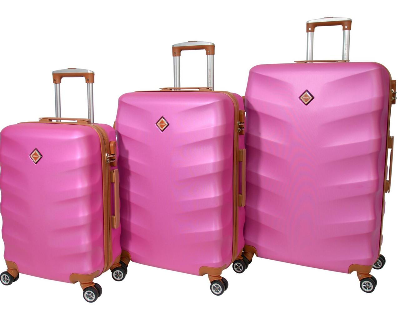 Чемодан Bonro Next набор 3 штуки, цвет розовый