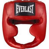 Шлем Everlast MMA Leather full красный
