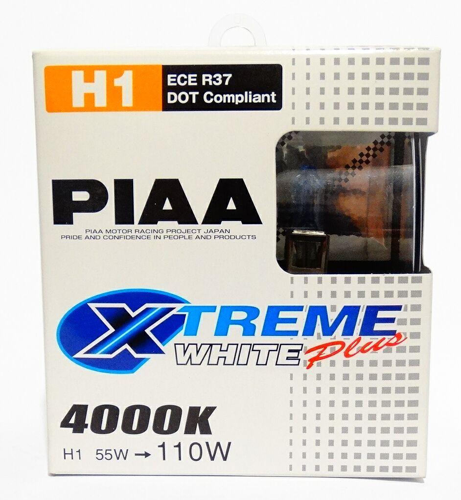 Автолампы PIAA Xtreme White Plus H1 4000K 2шт.