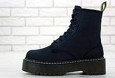 Женские ботинки Dr.Martens Black JADON натурал кожа crazy, демисезон черные. ТОП Реплика ААА класса., фото 3