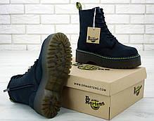 Женские ботинки Dr.Martens Black JADON натурал кожа crazy, демисезон черные. ТОП Реплика ААА класса., фото 2