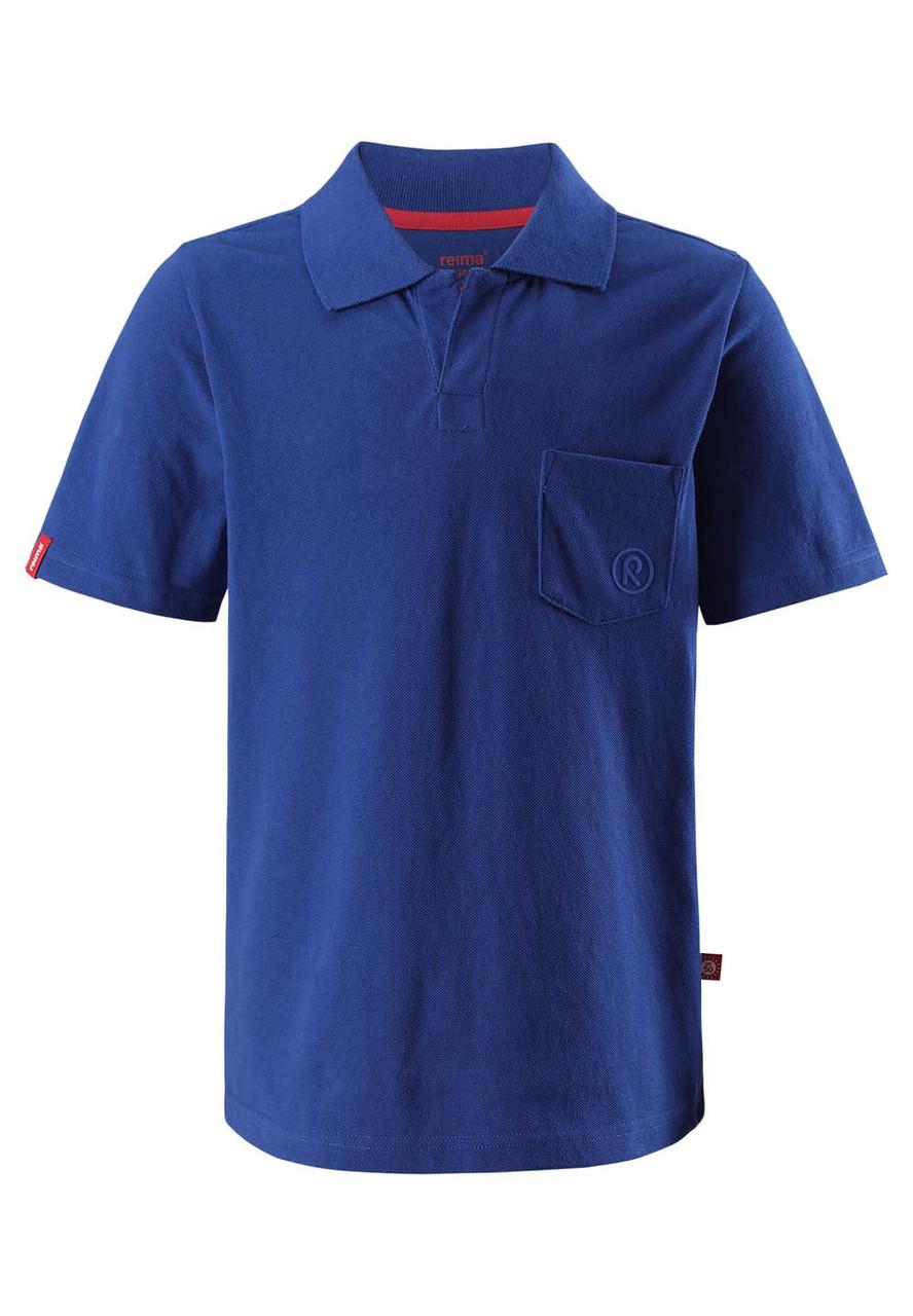 Футболка-поло для мальчиков Reima Surf темно-синяя 122* (536275-6840)
