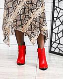 Ботильоны женские кожаные красные, фото 5