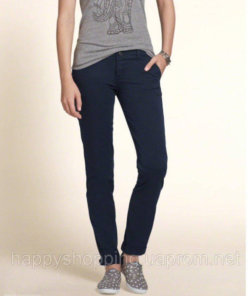 Женские темно-синие  джинсы Hollister