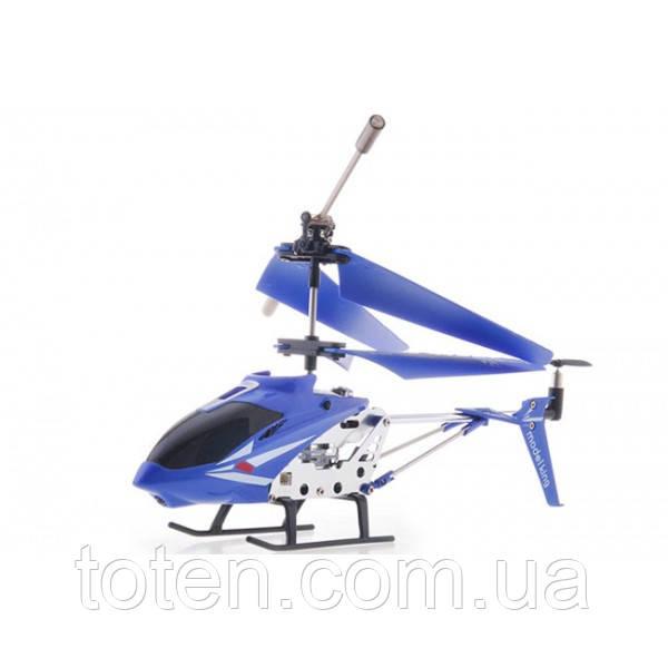 Радиоуправляемый вертолет 3-х канальный с гироскопом 33008. Металл корпус синий
