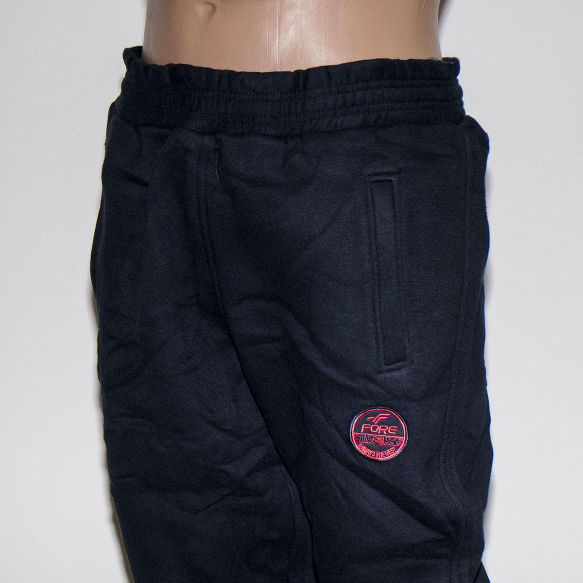 Спортивные зимние штаны на манжете трехнитка на мужчин баталы Турция тм. FORE 1151NG