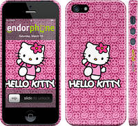 "Чехол на iPhone 5s Hello kitty. Pink lace ""680c-21"""