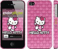 "Чехол на iPhone 4s Hello kitty. Pink lace ""680c-12"""